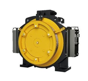 Passenger Elevator Motor Machine , 1.0 - 1.75m/S Gearless Traction Machine